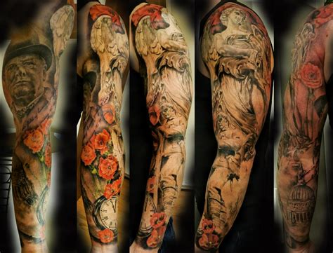 war memorial sleeve by rakhee shah tattoonow