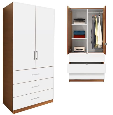 Alta Wardrobe by Alta Wardrobe Armoire 3 Drawer Wardrobe Shelves
