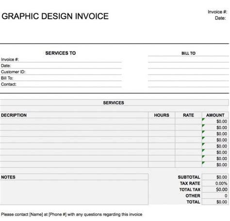 sample design invoice sample graphic design invoice template sample