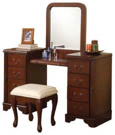 Large Vanity Set by Shop Houzz Cherry Louis Philipe 3 Large Drawer