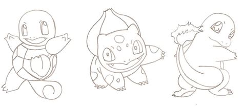 pokemon kanto coloring pages kanto starters by runedragonc on deviantart