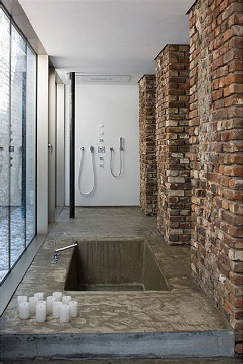 Bathroom Brick Wall by 33 Cool Bathrooms With Brick Walls And Ceilings Interior God