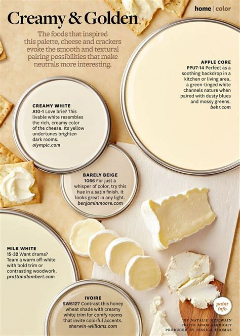 smooth and textural pairings of cheese and crackers neutral tones neutral paint colors used