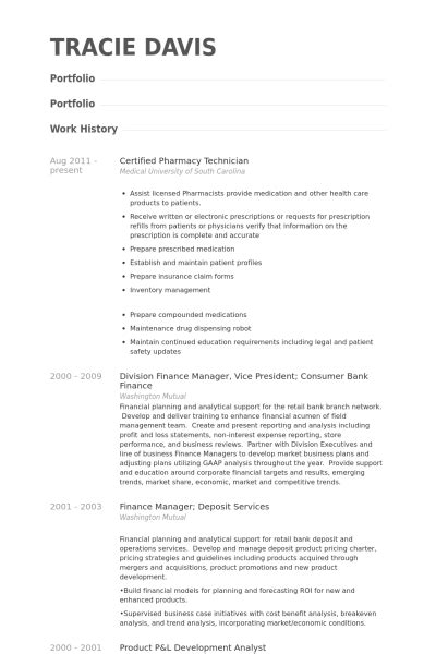 Pharmacy Technician Resume Exle by Certified Pharmacy Technician Resume Sles Visualcv