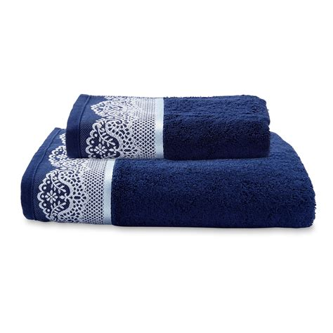 bathroom rugs and towels cannon embellished bath or hand towel blue home bed