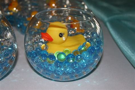 fish bowl baby shower centerpieces rubber ducks baby shower ideas rubber duck