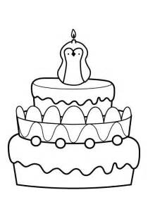 ausmalbild kuchen kostenlose malvorlage geburtstag kuchen zum achten