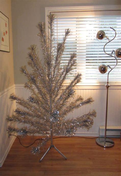 best vintage silver aluminum pom pom christmas tree online