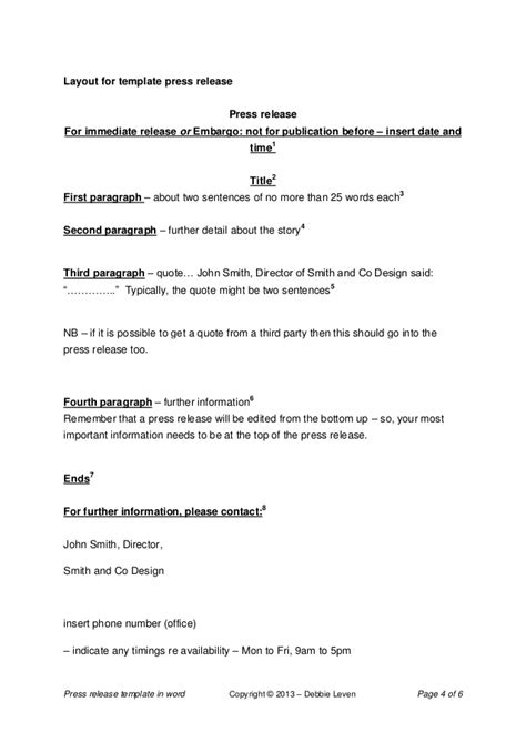 uk press release template press release template word