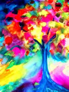 colorful trees colorful tree by maritza bermudez