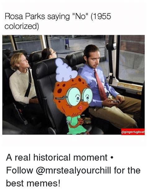 tugboat meme rosa parks saying no 1955 colorized tugboat a real