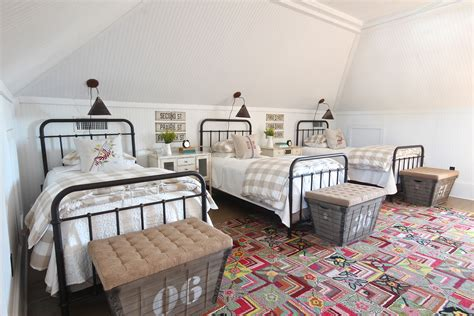 bed in living room country living feature holly mathis interiors