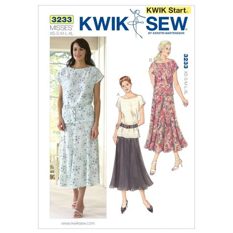 sewing pattern ease kwik sew ladies easy learn to sew sewing pattern 3233 tops