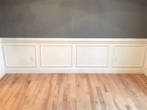 Premade Wainscoting Boxes Simple Shadow Box Detail Homebuilding