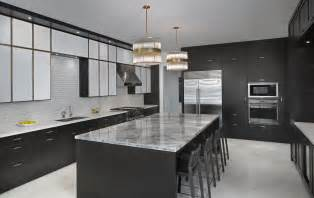 Kitchen Cabinet Space Saver Ideas black laminated wooden kitchen island with grey marble
