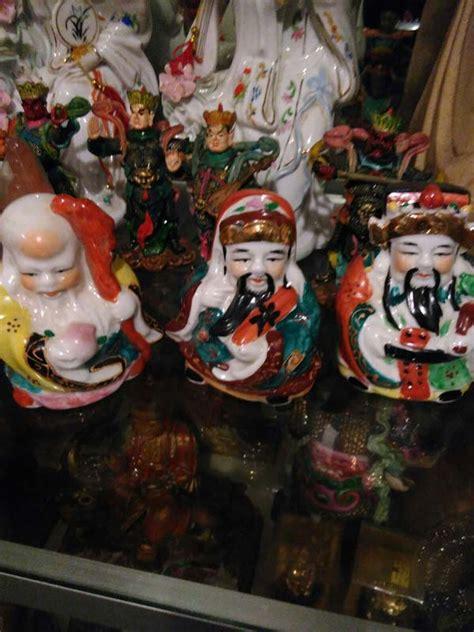 Jual Lu Tidur Malang jual patung budha fu lu shou keramik 10 cm dhammamanggala