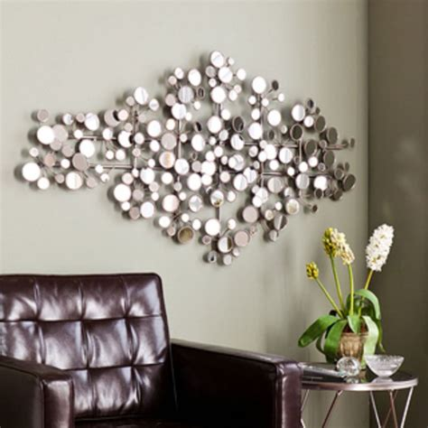 livingroom wall decor living room silver wall decor idea for living room