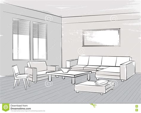 Living Room Interior Sketch Table by Office Table L Design