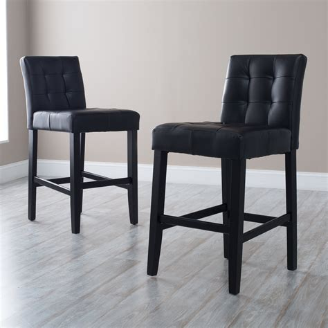 Black Counter Height Swivel Bar Stools by Stools Design Astonishing Leather Counter Height Bar