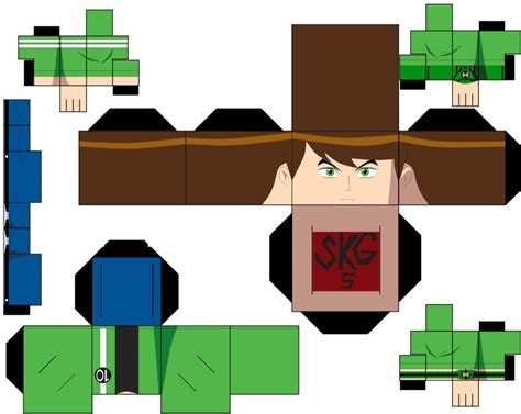 Ben 10 Papercraft - ben tennyson age 15 by superkamiguru5 on deviantart