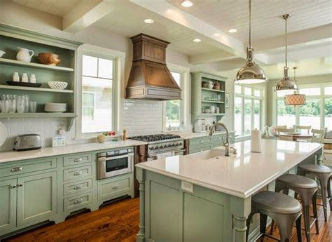 25 best ideas about green kitchen cabinets on