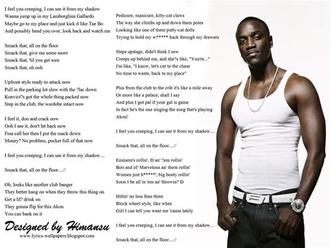 Smock That by Lyrics Wallpapers Akon Smack That Ft Eminem