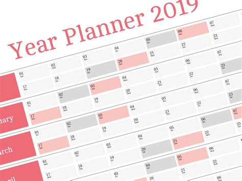 Yearly Wall Planner Adenda 2019 Big Annual Wall Planner Template 2019 Planner Template
