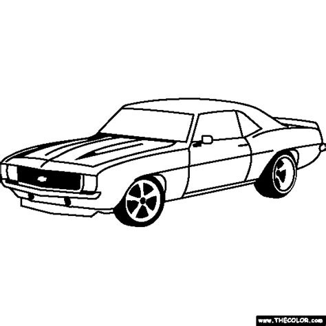 69 Coloring Page by Chevrolet Camaro 1969 Coloring Page Projects To Try