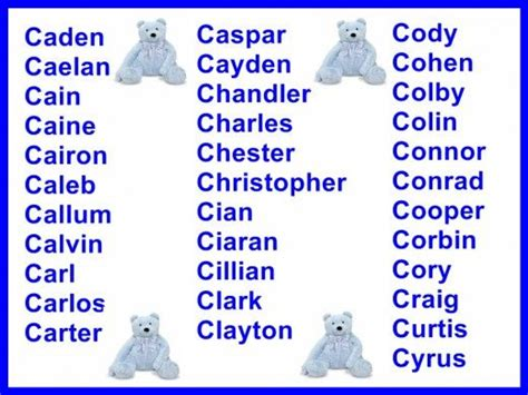C Letter Names Baby