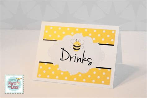 card bee template bumblebee themed birthday with free printables how