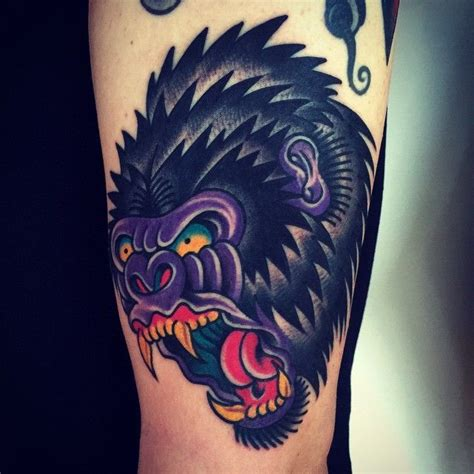 traditional gorilla tattoo 20 best new school tattoos gorilla images on