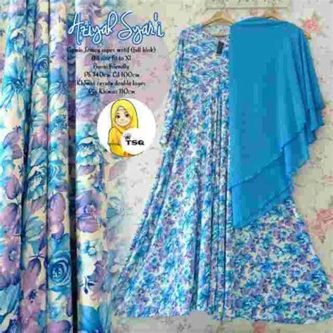 Gamis Monalisa Motif Tartan Biru gamis cantik aziyah b025 jersey baju muslim modern