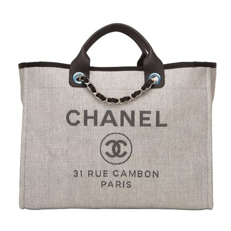 Chanel Deauville Shopping Tote Bags 972 chanel grey canvas large deauville shopping bag at 1stdibs