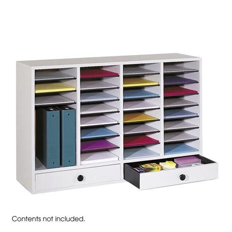 Drawer File Organizer by Grey 32 Compartment File Organizer With Drawer 9494gr
