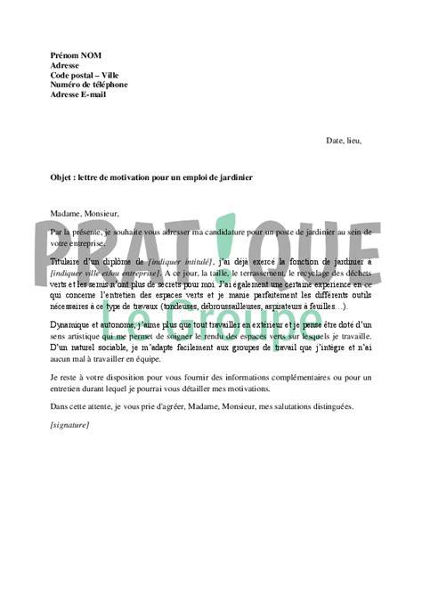 Lettre De Motivation Ecole Jardinier Paysagiste Application Letter April 2015