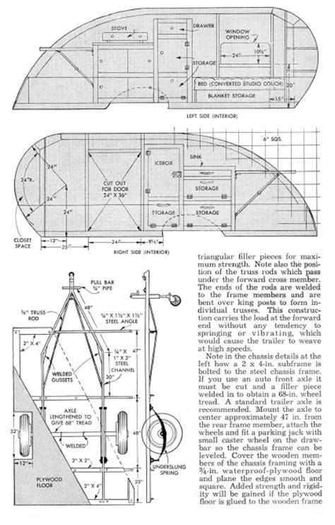 teardrop trailer floor plans vintage teardrop trailer cers chuck wagon plans wild