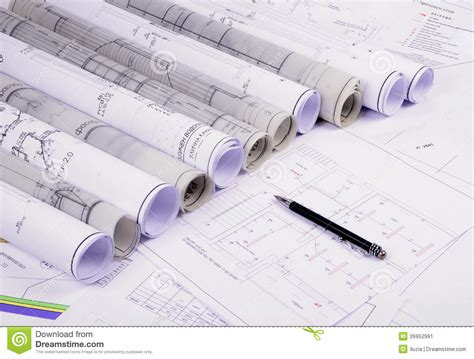architectural plans stock image image 26952991