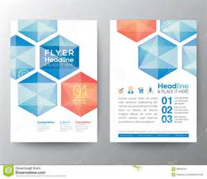 home design templates abstract hexagon poster brochure flyer design template