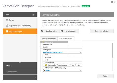 devexpress layout view vertical scroll layout designer page vertical grid winforms controls