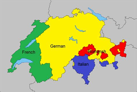 switzerland map languages language map of switzerland 1049 x 703 mapporn