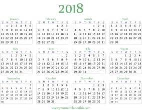 2018 Calendar ? Download Quality Calendars