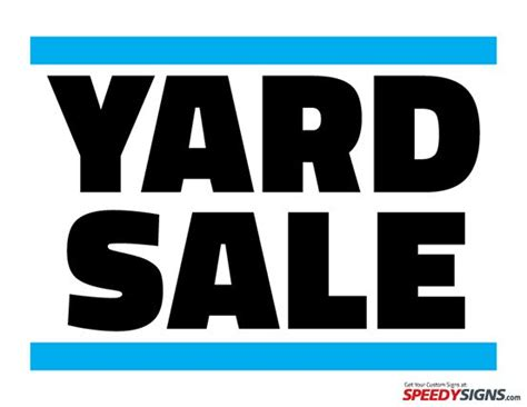 free yard sale printable sign template pinterest