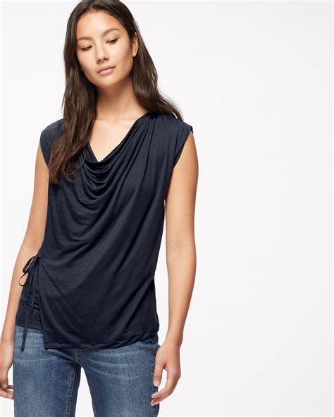 Neck Top sleeveless cowl neck top jigsaw