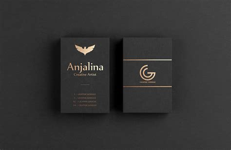 gold foil business card mockup psd template mockup