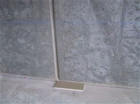 the seams on a sted concrete wall disappear when the how to stick on plasterboard or drywall direct to a brick