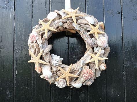 wreath wall decor summer wreath wreath shell wreath driftwood