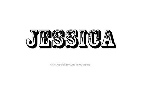 tattoo name jessica jessica name tattoo designs