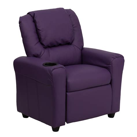 Recliner With Cupholder by Purple Vinyl Recliner W Cup Holder
