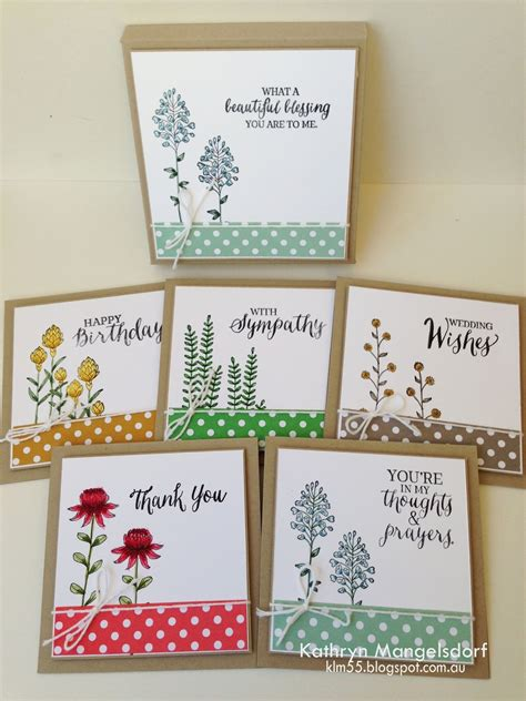 Handmade Card Sets - kathryn s stin world sale a bration flowering fields