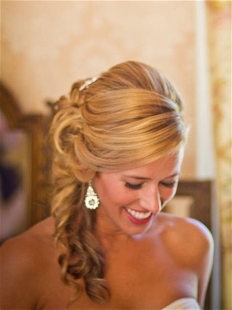 Bridal Side Hairstyles by Side Swept Hairstyles Weddingbee